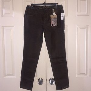 Vegan leather brown jeans / pants